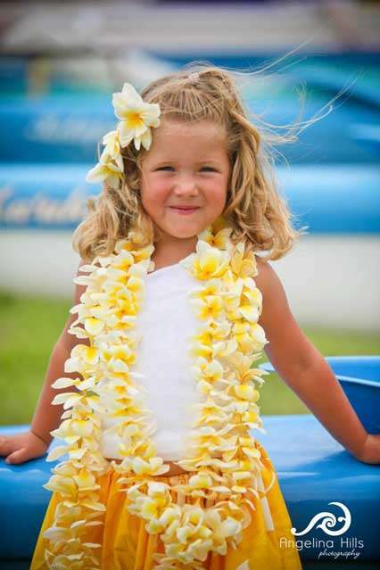 Pretty Hula Girl by Angelina Hills