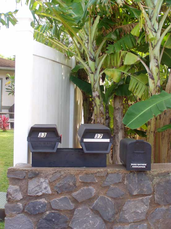 Kuau Bayview drop box at 37 Kaiea Place