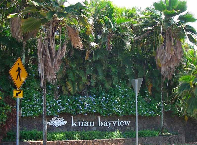 Kuau Bayview entrance before the fence