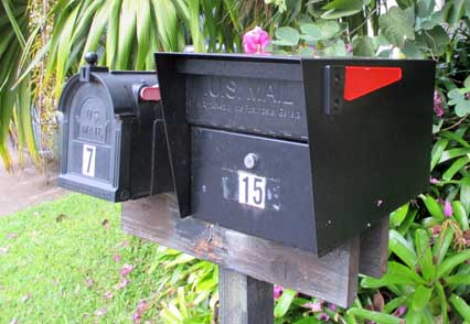 Locking mailbox at 15 S Laelua Place