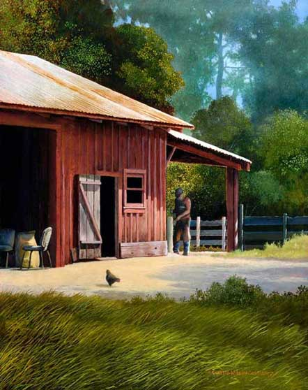 Painting by Curtis Wilson Cost: The Farrier